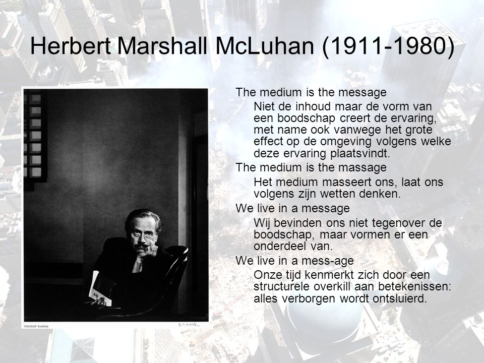 Herbert Marshall McLuhan (1911-1980)