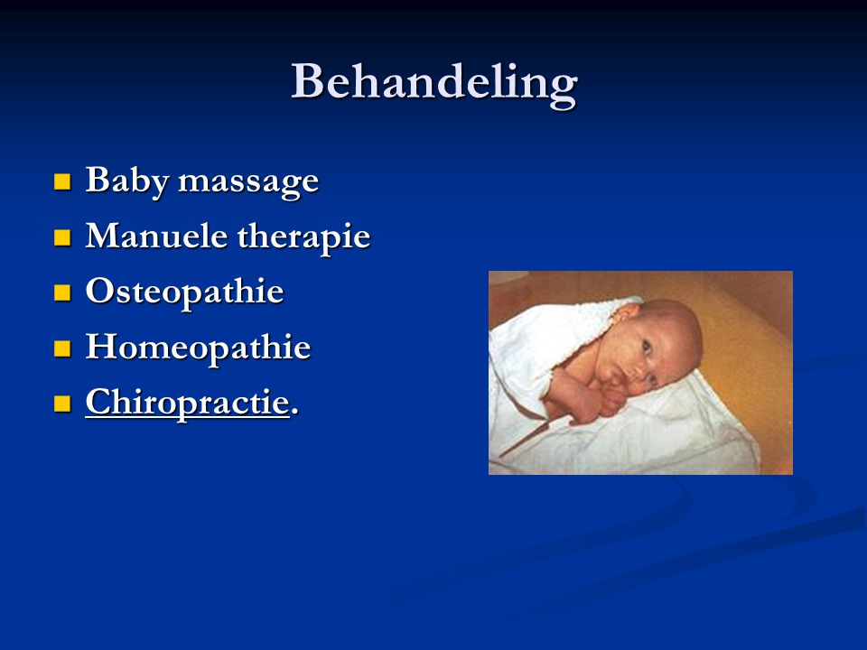 Behandeling Baby massage Manuele therapie Osteopathie Homeopathie