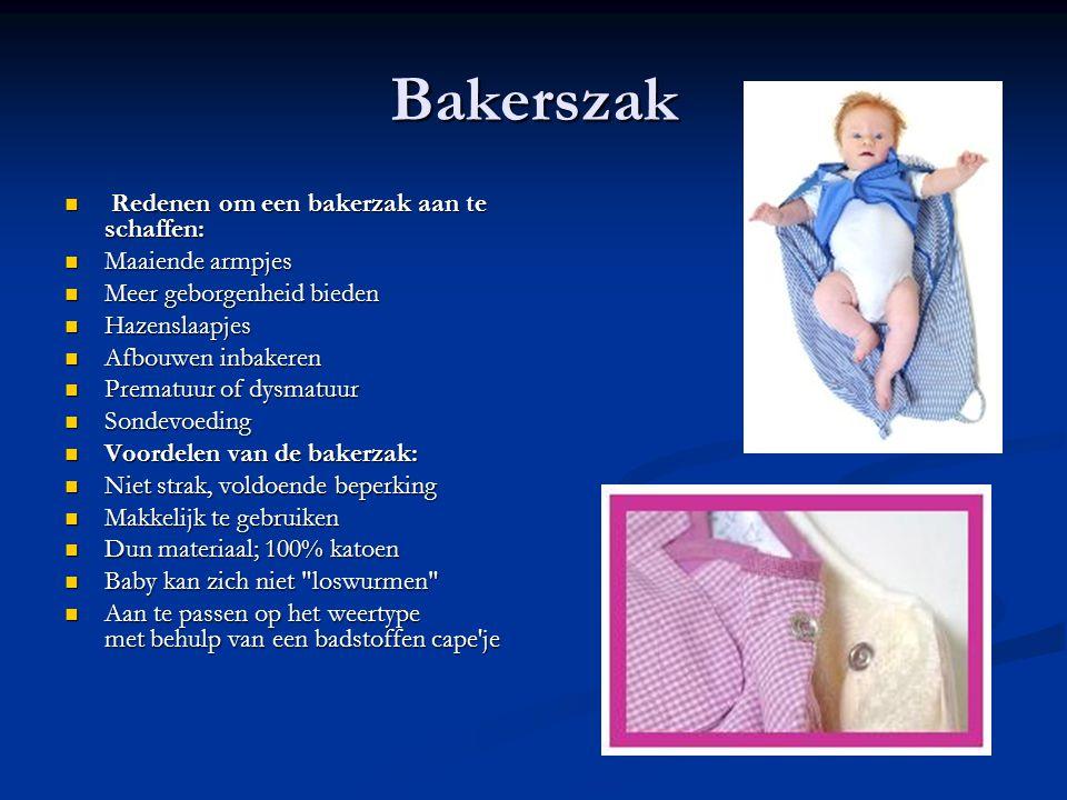 Bakerszak Redenen om een bakerzak aan te schaffen: Maaiende armpjes