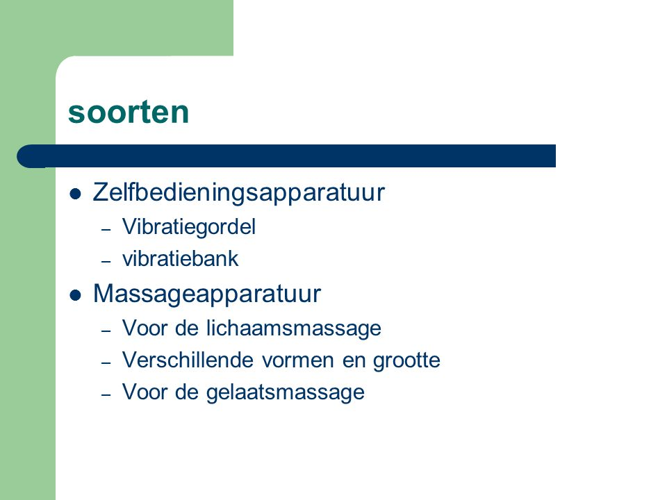 soorten Zelfbedieningsapparatuur Massageapparatuur Vibratiegordel