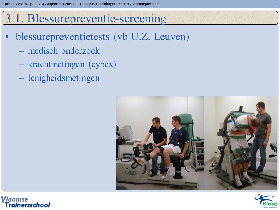 3.1. Blessurepreventie-screening