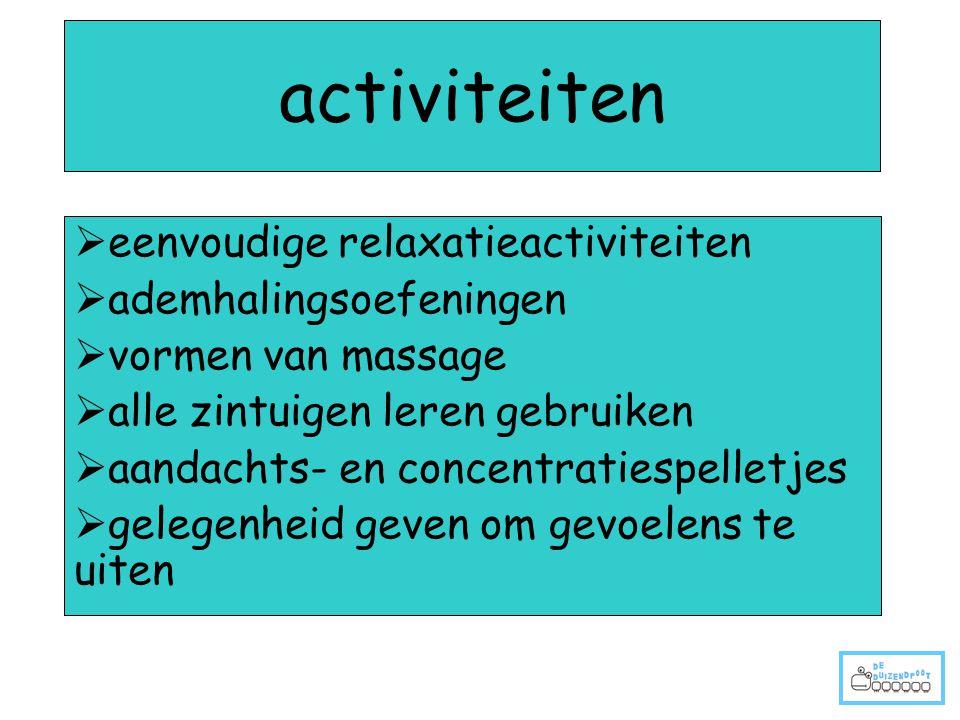 activiteiten eenvoudige relaxatieactiviteiten ademhalingsoefeningen