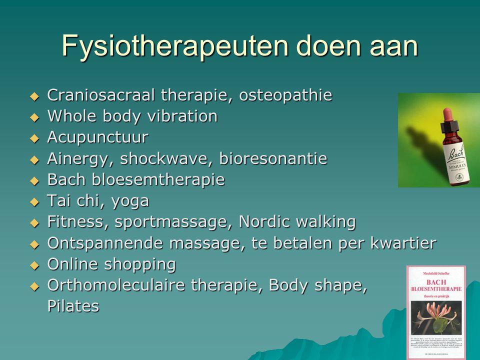 Fysiotherapeuten doen aan