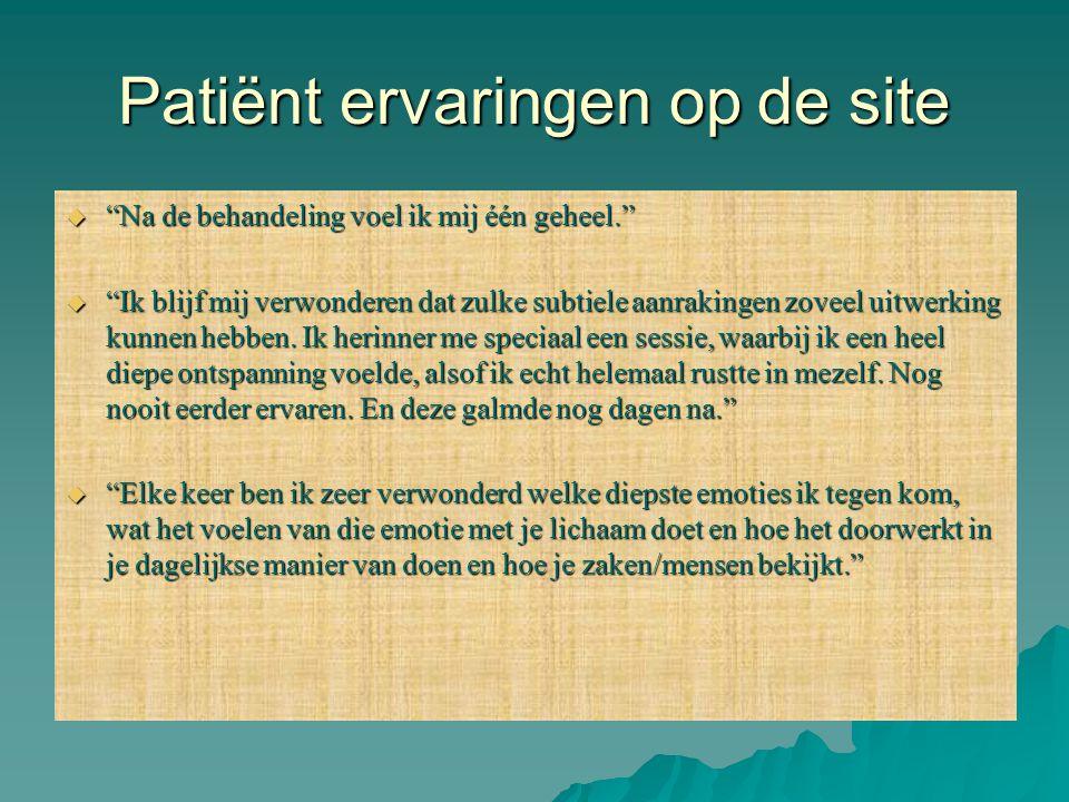 Patiënt ervaringen op de site