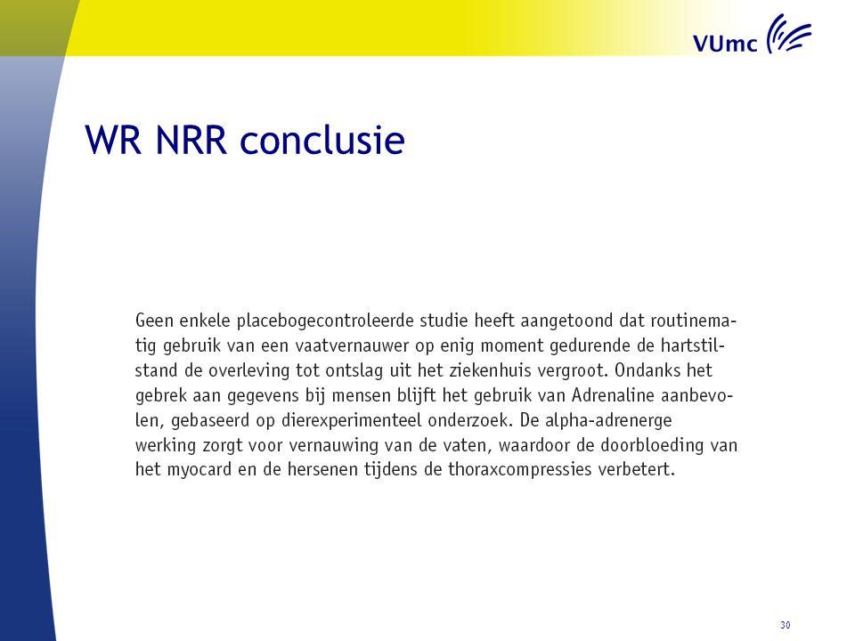WR NRR conclusie