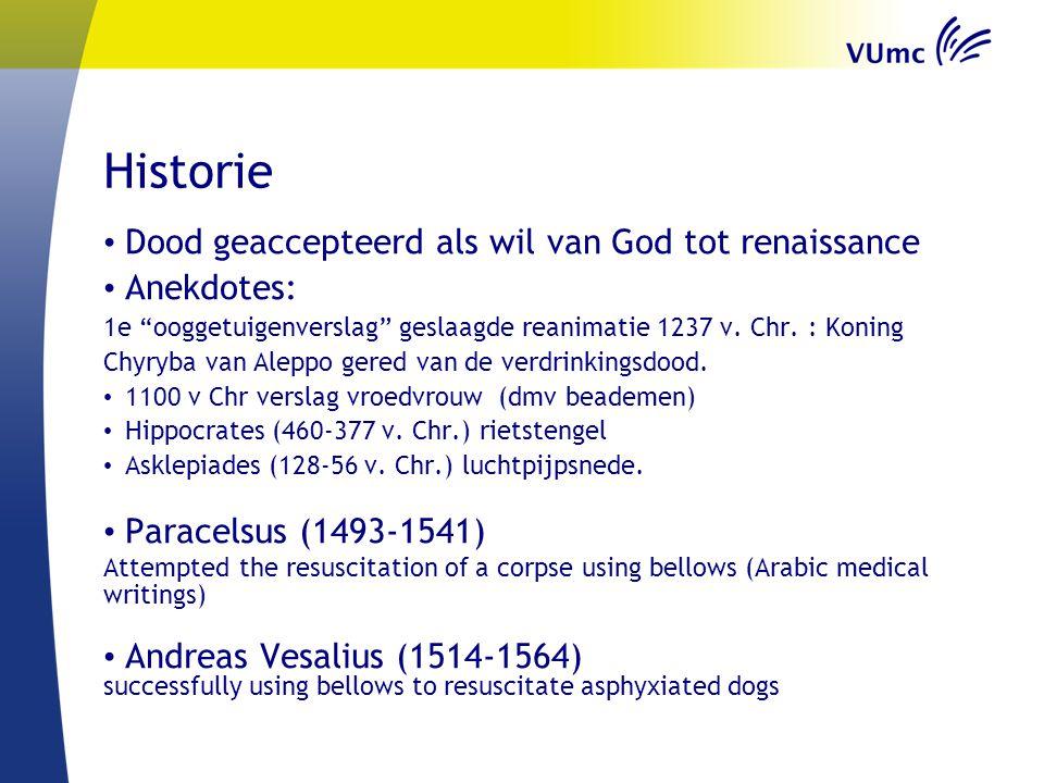 Historie Dood geaccepteerd als wil van God tot renaissance Anekdotes: