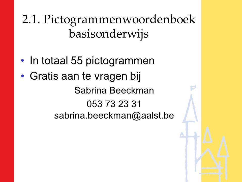 2.1. Pictogrammenwoordenboek basisonderwijs