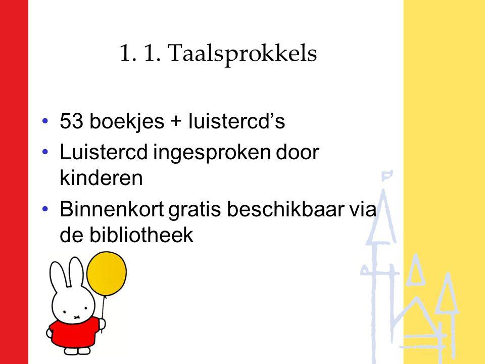 1. 1. Taalsprokkels 53 boekjes + luistercd's