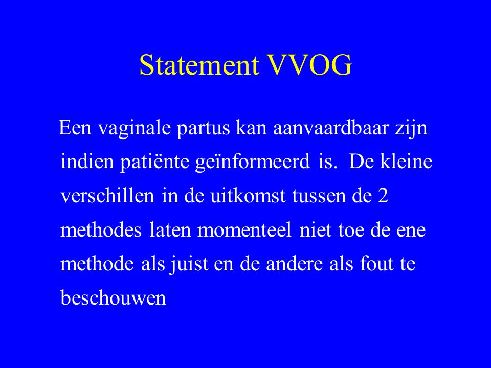 Statement VVOG