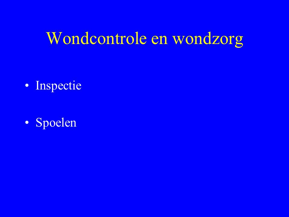 Wondcontrole en wondzorg