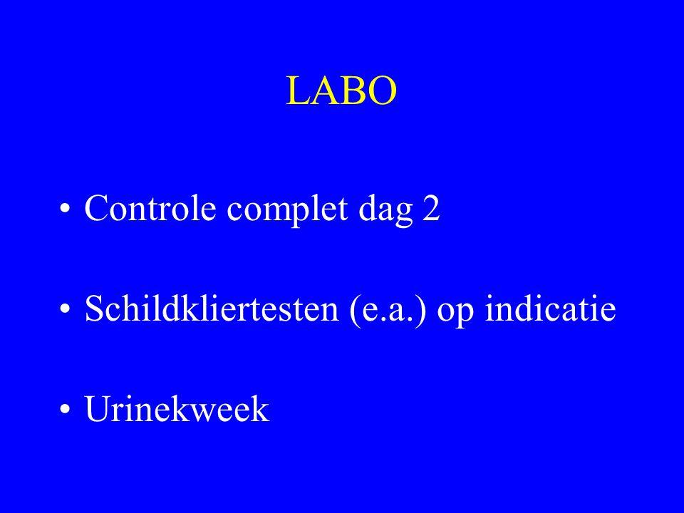 LABO Controle complet dag 2 Schildkliertesten (e.a.) op indicatie
