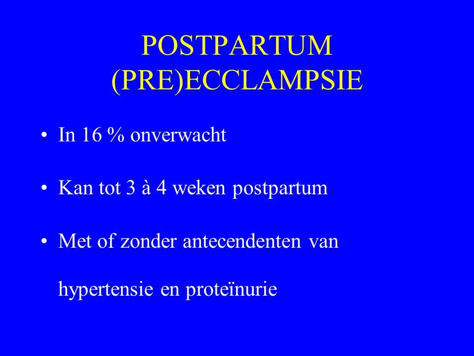 POSTPARTUM (PRE)ECCLAMPSIE