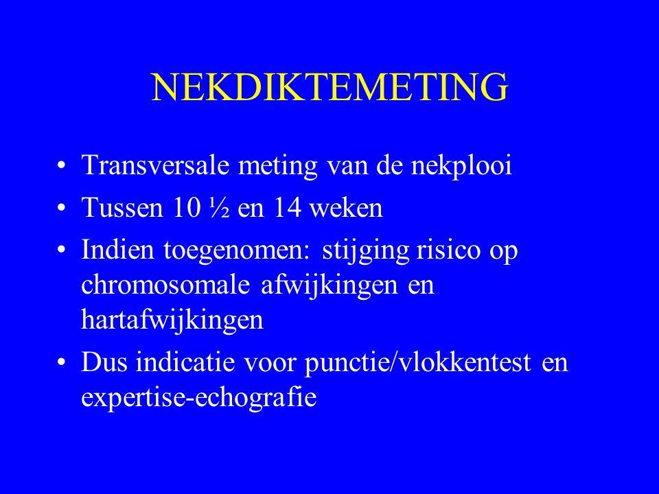 NEKDIKTEMETING Transversale meting van de nekplooi