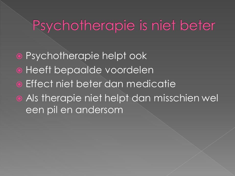 Psychotherapie is niet beter