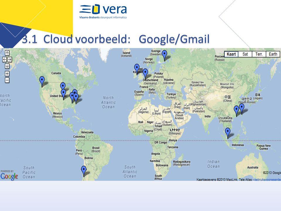 3.1 Cloud voorbeeld: Google/Gmail