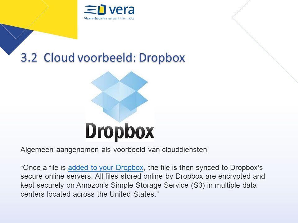 3.2 Cloud voorbeeld: Dropbox