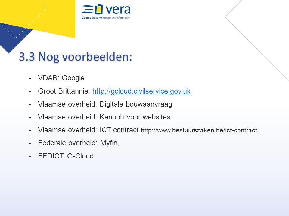 3.3 Nog voorbeelden: VDAB: Google
