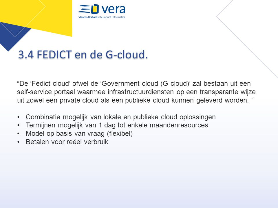 3.4 FEDICT en de G-cloud.