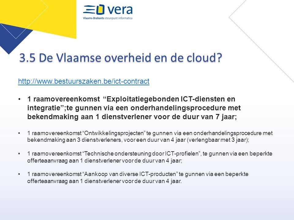 3.5 De Vlaamse overheid en de cloud