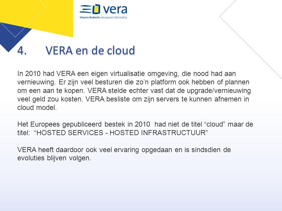4. VERA en de cloud
