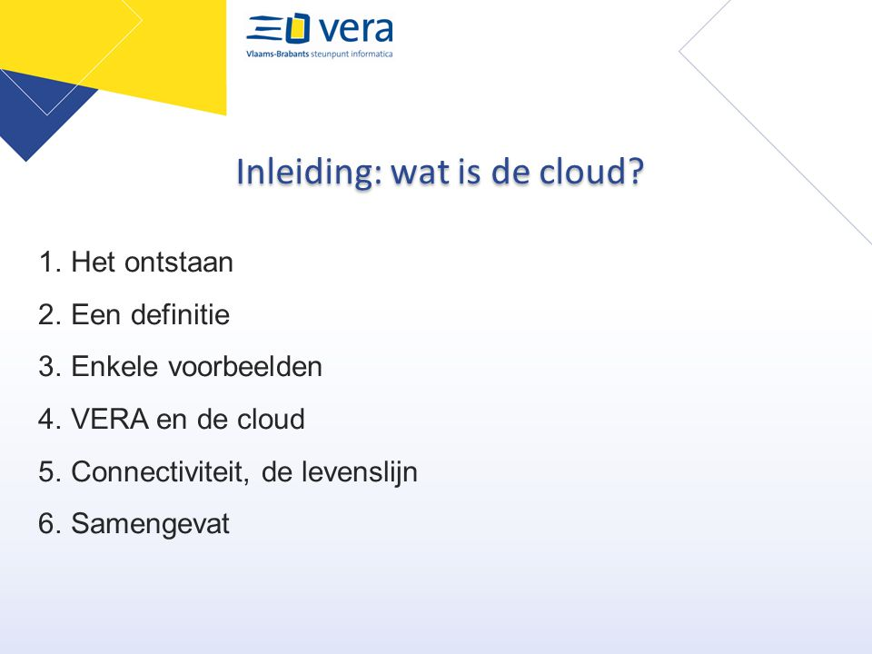Inleiding: wat is de cloud