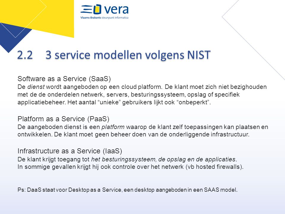 2.2 3 service modellen volgens NIST