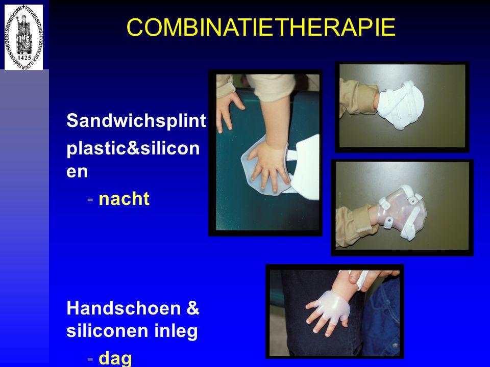 COMBINATIETHERAPIE Sandwichsplint plastic&siliconen - nacht