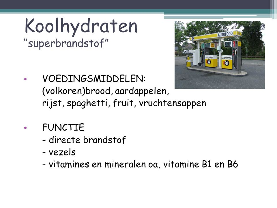 Koolhydraten superbrandstof
