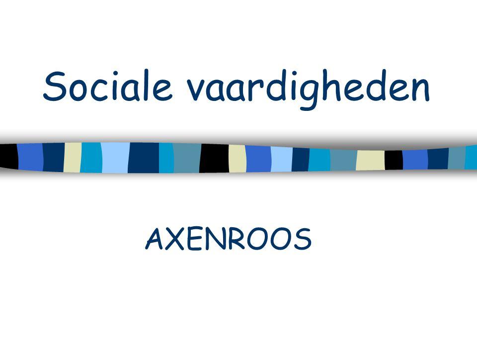 Sociale vaardigheden AXENROOS