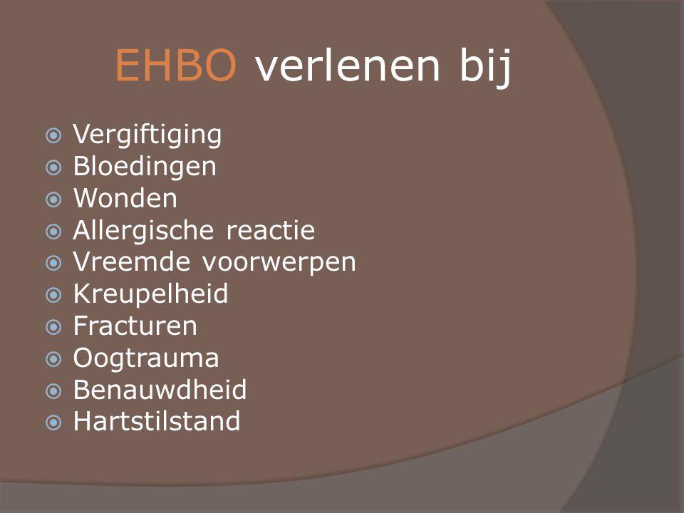 EHBO verlenen bij Vergiftiging Bloedingen Wonden Allergische reactie