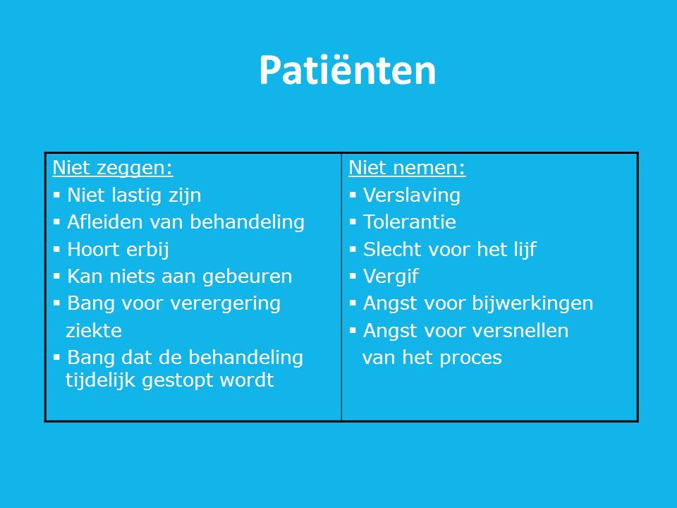 Patiënten Niet zeggen: Niet lastig zijn Afleiden van behandeling