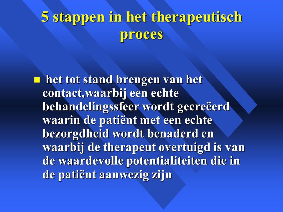 5 stappen in het therapeutisch proces