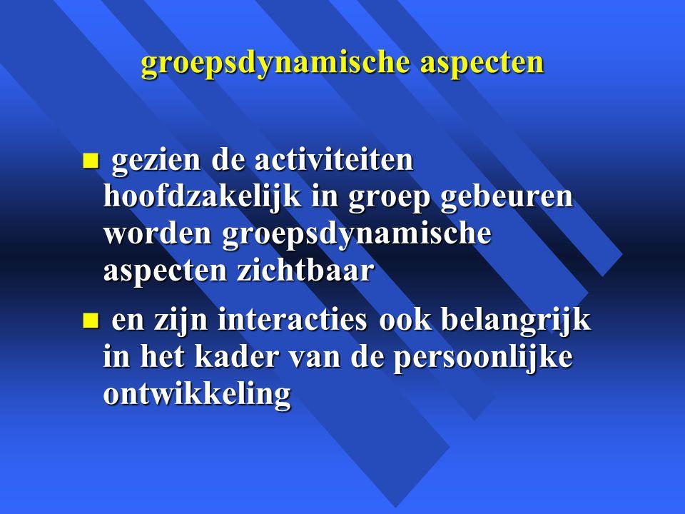 groepsdynamische aspecten