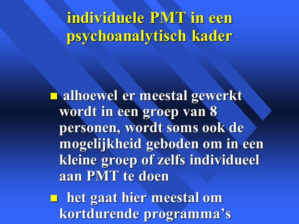 individuele PMT in een psychoanalytisch kader
