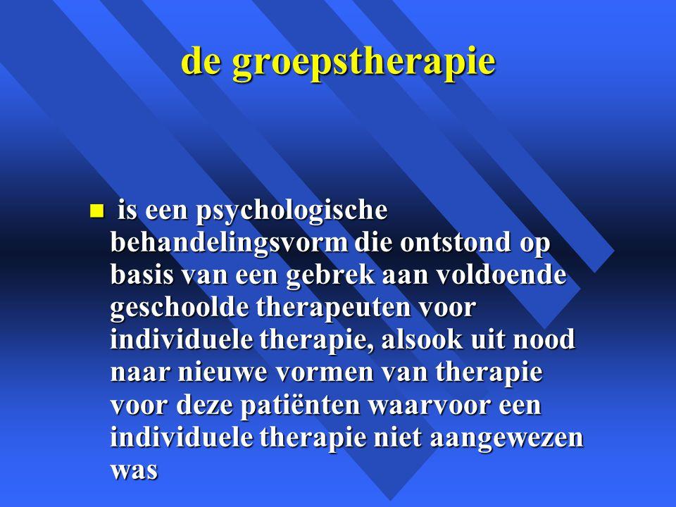 de groepstherapie