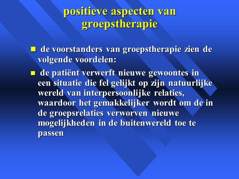 positieve aspecten van groepstherapie