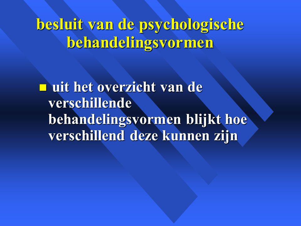 besluit van de psychologische behandelingsvormen