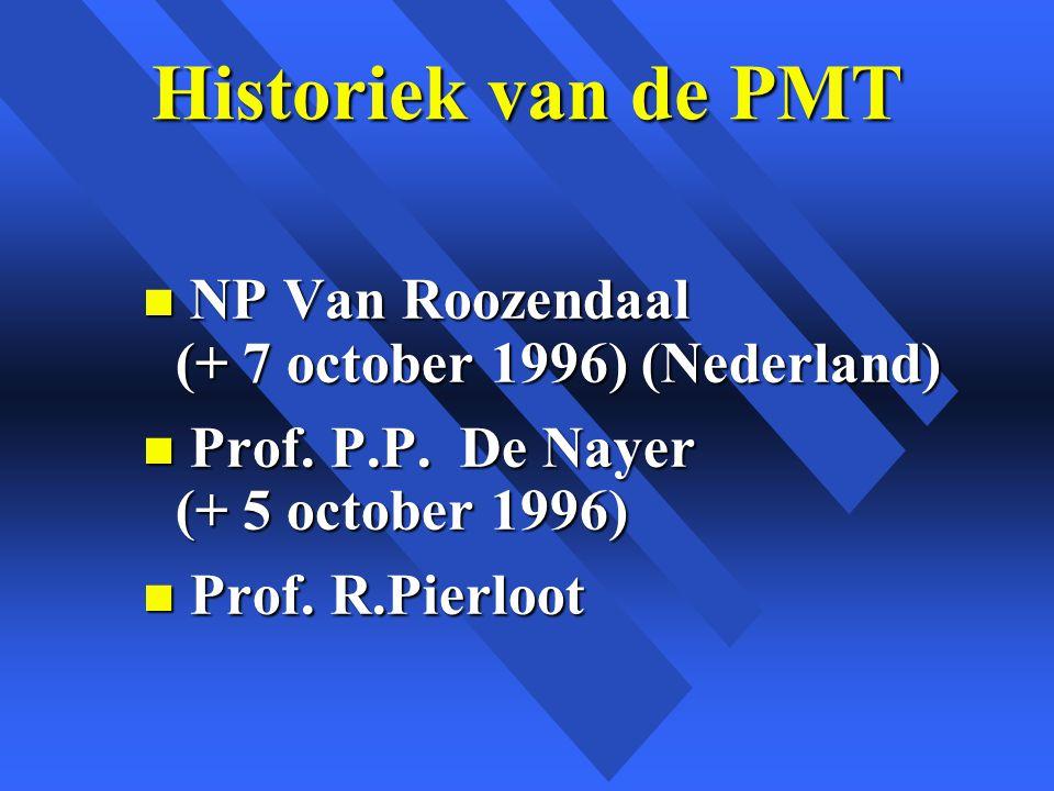 Historiek van de PMT NP Van Roozendaal (+ 7 october 1996) (Nederland)