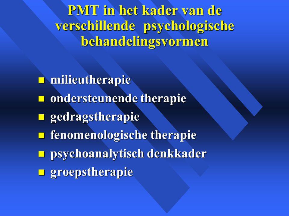 PMT in het kader van de verschillende psychologische behandelingsvormen