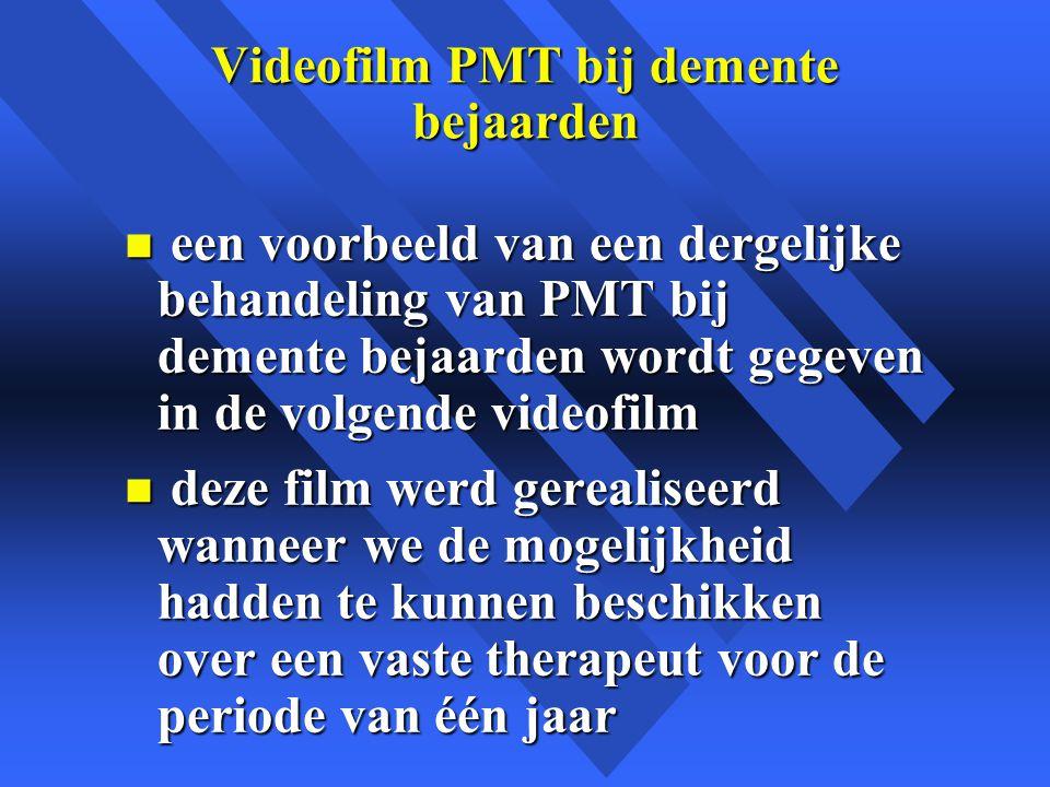 Videofilm PMT bij demente bejaarden