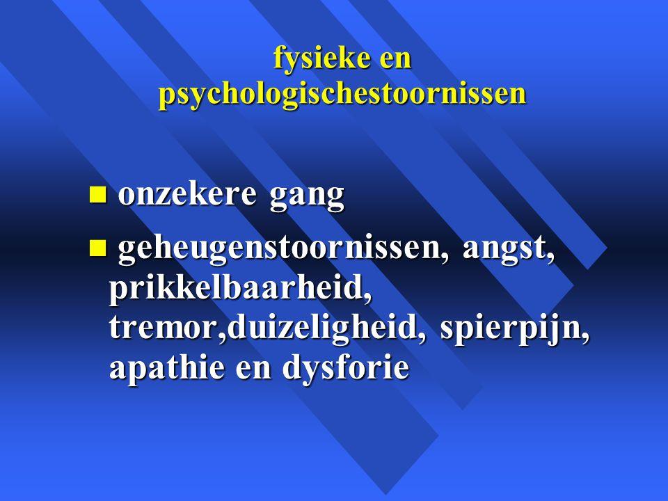 fysieke en psychologischestoornissen