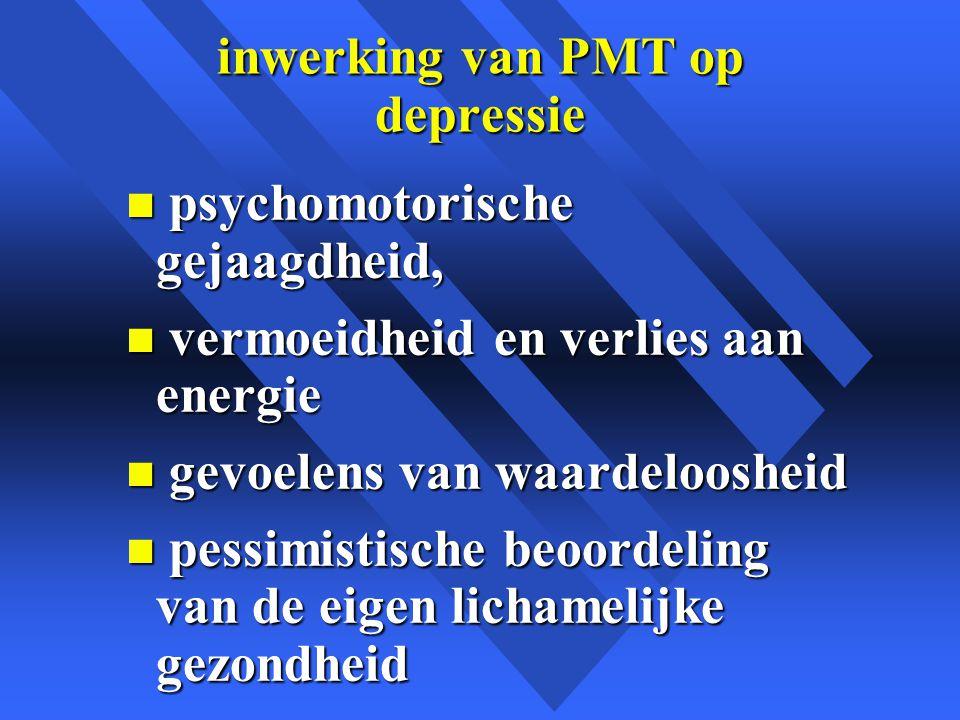 inwerking van PMT op depressie