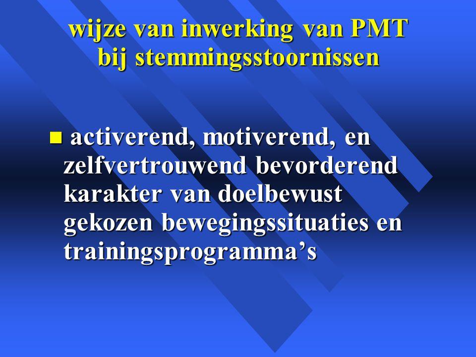 wijze van inwerking van PMT bij stemmingsstoornissen