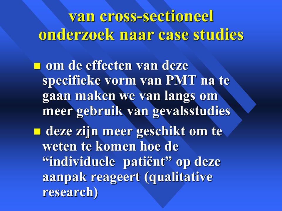 van cross-sectioneel onderzoek naar case studies