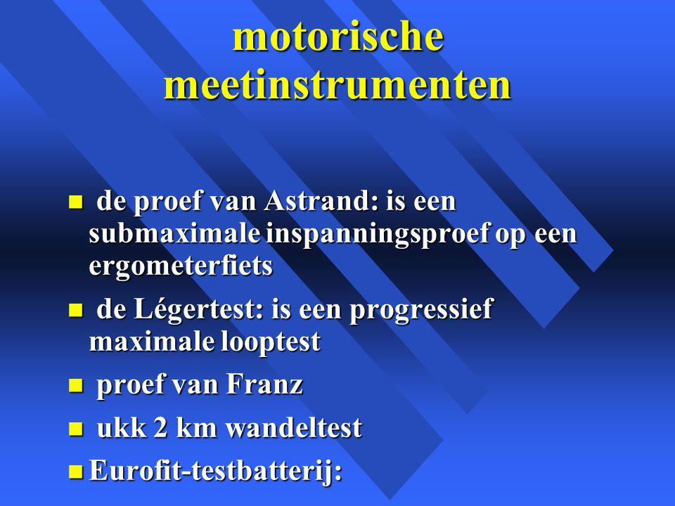 motorische meetinstrumenten