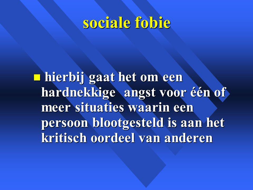 sociale fobie