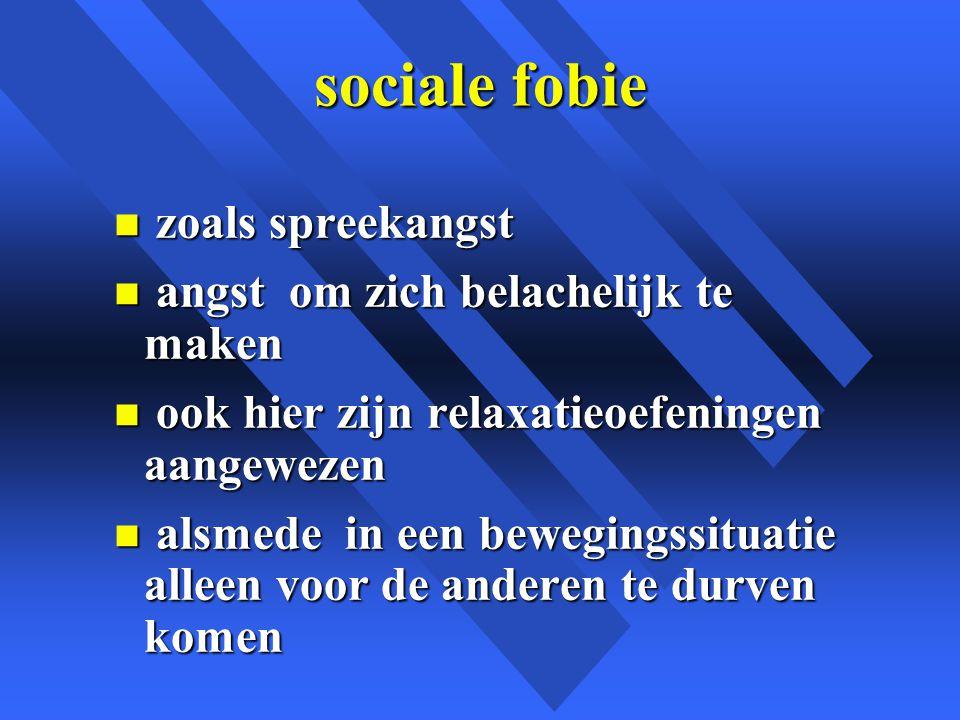 sociale fobie zoals spreekangst angst om zich belachelijk te maken