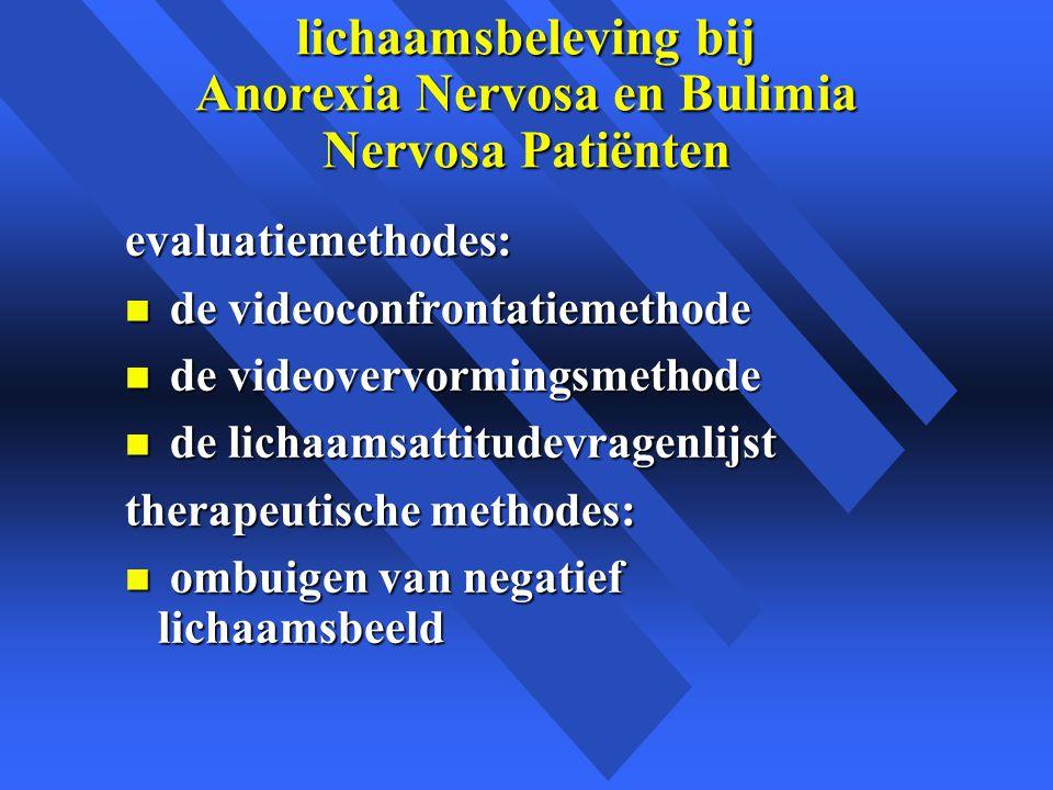 lichaamsbeleving bij Anorexia Nervosa en Bulimia Nervosa Patiënten