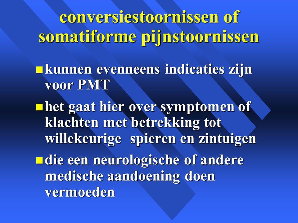 conversiestoornissen of somatiforme pijnstoornissen