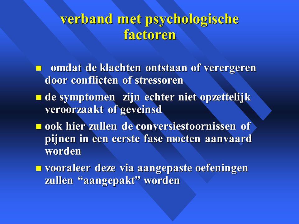 verband met psychologische factoren